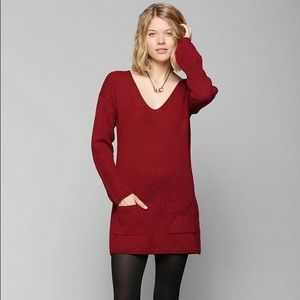 Urban Outfitters brand sweater tunic red